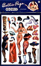 Bettie Page Dress-Up Magnet Set