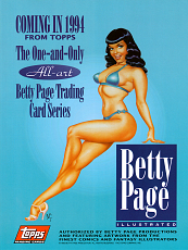 Betty Page Illustrated Trading Card Series Advert